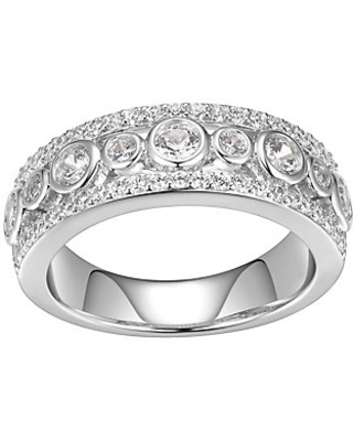 15 cttw Band Ring Sterling - diamonique
