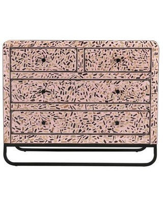 Resplendent Collection GZ 1016 33 Sideboard with Iron Legs in Pink - moes home collection