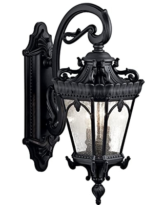 Tournai 2 Light Outdoor Wall Light with Clear Seeded Glass - kichler