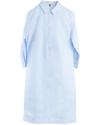 Women's Cotton Cleverly Tailored Pinstripe Pale Fitted Shirtdress With Stripe Eloise Stripe XXL - alex black collection