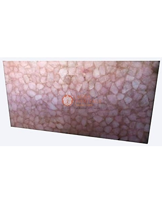Rose Quartz Handmade Collectible Dining Table Top Living Room Decor Art - agra heritage marble crafts