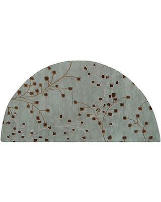 Athena Floral and Tufted Hearth Rug - surya