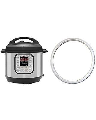 Duo 7 in 1 Electric Pressure Cooker 14 One Touch Programs & Single Sealing Ring Clear 5 or - instant pot