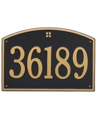 1 Line Personalized Address Wall - whitehall products