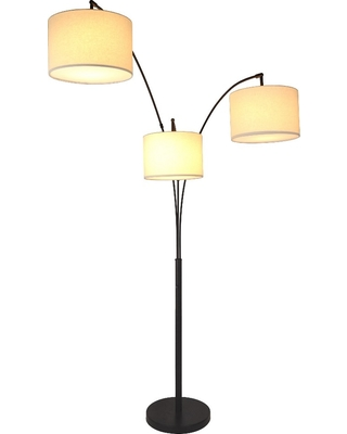 Avenal Shaded Arc Floor Lamp Bronze Includes LED Light Bulb - project 62