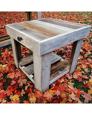 Reclaimed Wood End Table - sonsofeden