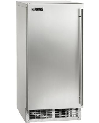 H50IMS ADL ADA Compliant Clear Ice Maker with Left Hinge Stainless Steel Solid Door 27 lb Storage Capacity and 55 lbs Production Capacity per - perlick