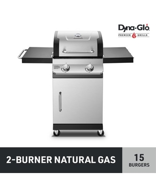 DGP321SNN D Premier 2 Burner Stainless Steel Natural Gas Outdoor BBQ Grill - dyna-glo