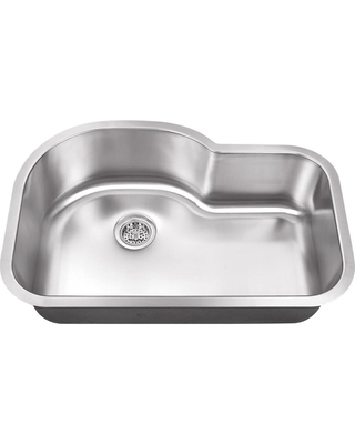 Undermount 5 in x 125 in Brushed Satin Single Bowl Kitchen Sink Stainless Steel SPSBE3121 - superior sinks