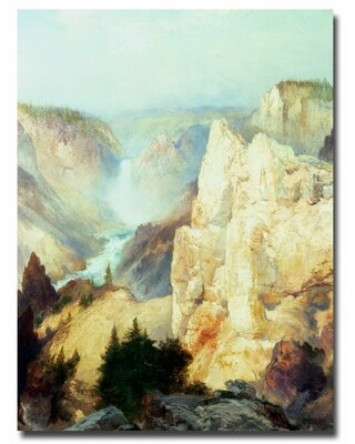 """""""Grand Canyon of Yellowstone"""" by Thomas Moran Painting Print on Wrapped Canvas - trademark fine art"""