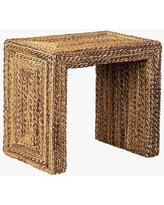 Sarnia Seagrass Rectangular End Table Natural - undefined
