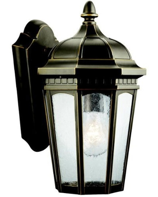 Courtyard 1 Light Outdoor Wall Light with Clear Seeded Glass - kichler