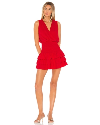 Amanda Uprichard Chantal Dress in Red. - size M (also in L, S, XS)