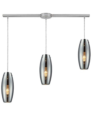 60064 3L Menlow Park 3 Light Pendant with Glass Shade 36 by 12 Inch Finish - elk