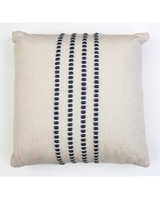 Oversize Wanda Yarn Stitched Woven Cotton Square Throw Pillow - decor therapy