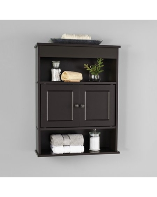 Bathroom Wall Mounted Storage Cabinet with 2 Shelves Espresso - mainstays