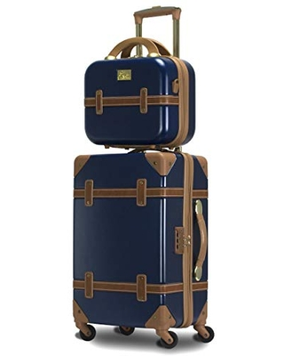 Gatsby 2 Piece Hardside Carry On Spinner Luggage Set Tote 20 Inch - chariot