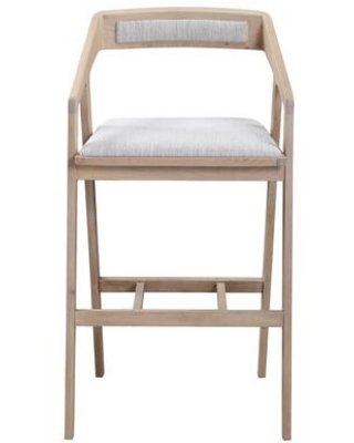 Padma Collection BC 1090 29 Bar Stool with Solid Oak Frame - moes home collection
