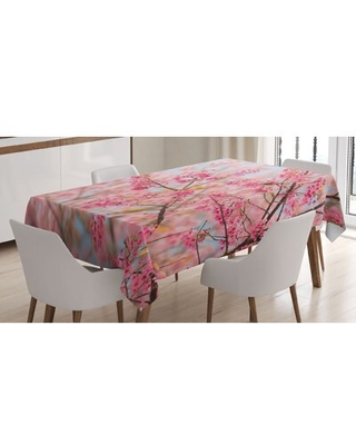 Japanese Sakura Cherry Blossom Branches Full of Spring Beauty Picture Tablecloth - east urban home