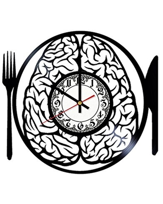 Brain Handmade Vinyl Record Wall Clock Get unique room wall decor Gift ideas for his and her - Modern Unique Home Art Design - girls art boutique