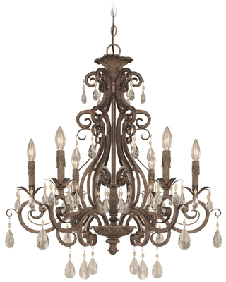 Englewood 29 Inch 6 Light Chandelier Englewood 25626 FR Traditional - craftmade