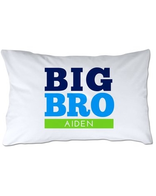 Personalized Big Brother Pillow Case - 4 wooden shoes