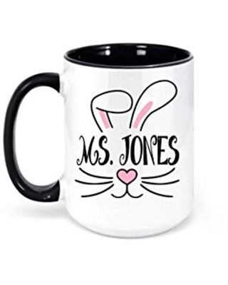 Personalized Easter Coffee Mug Gift for Adults Easter Basket Filler - caffeine and wine