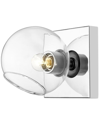 Marquee 25 in W 1 Light Chrome Modern Contemporary Wall Sconce 455 1S CH - z-lite