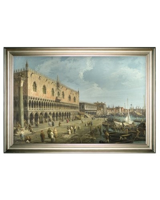 Venice The Grand Canal' Framed Oil Painting Print on Wrapped Canvas - darby home co