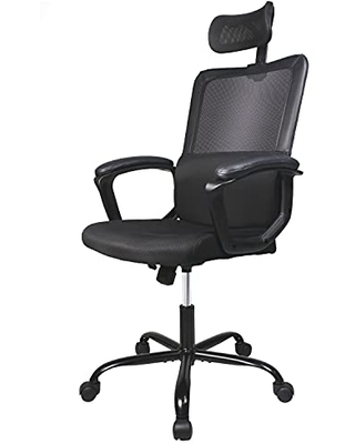 Office Chair Ergonomic Mesh Home Office Computer Chair with Lumbar Support Adjustable Headrest Armrest and Wheels Mesh High Back Swivel Rolling - smug