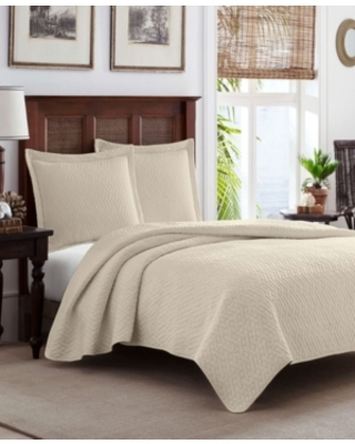 Tommy Bahama Solid Dune Reversible 3 Piece Full Queen Quilt Set Bedding - tommy bahama home