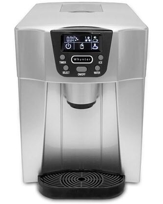 IDC 221SC Countertop Direct Connection Ice Maker with Water Dispenser 22 lbs Daily Ice Production and 32 lbs Ice Storage in - whynter