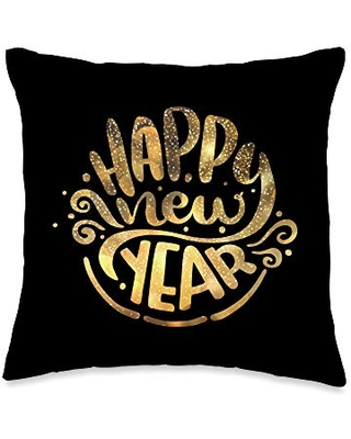 Best New Years Gifts & Fashion Happy Simple 2021 New Year Celebration Family Gift Throw Pillow, 16x16, Multicolor