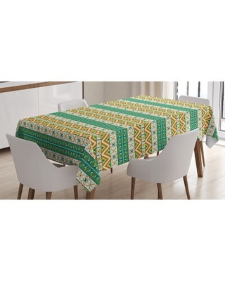 Ambesonne Colorful Tablecloth Colorful Local Motif Pattern Print Rectangular Table Cover For Dining Room Kitchen Decor Pistachio O - east urban home
