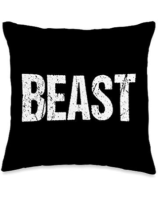 Beast Beauty Funny Valentines Day Couple Matching Gift Throw Pillow 16x16 - couple shrts valentines day cute sweet gift idea