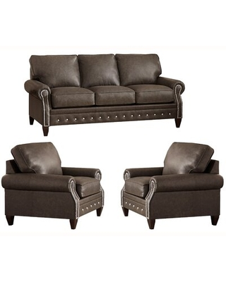 Jacey 3 Piece Leather Sleeper Living Room Set - 17 stories