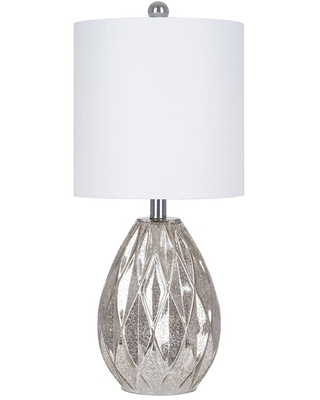 Glam Table Lamp Silver Includes LED Light Bulb - cresswell lighting