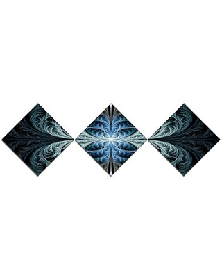 Glowing Fabulous Fractal Art' Graphic Art Print Multi Piece Image on Canvas - east urban home