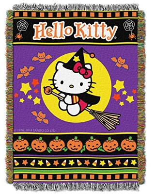 """SANRIO Hello Kitty """" Woven Tapestry Throw Blanket Multi Color - nickelodeon"""