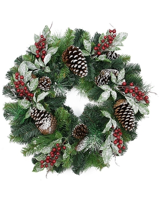 Frosted Pine Wreath - northlight