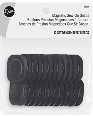Sew on Magnetic Square Plastic Snaps Fasteners 1 1 12 Sets - dritz
