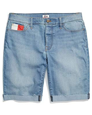 Women's Adaptive Bermuda Shorts with Velcro Brand Closure and Magnetic Fly - tommy hilfiger