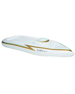 FUNBOY Giant Inflatable Yacht Convertible Pool Float, Luxury Float for Summer Pool Parties and Entertainment