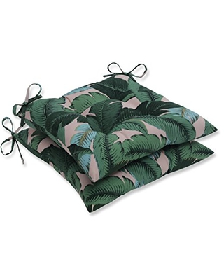 Outdoor Indoor Swaying Palms Capri Tufted Seat Cushions Square Back 2 Count - pillow perfect