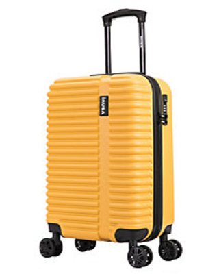 Hardside Spinner 20 Mustard Carry On Suitcase Ally - inusa