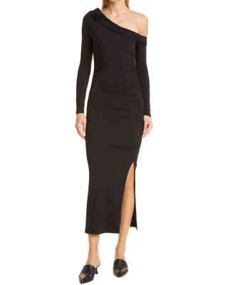 Jonathan Simkhai Standard Lucy Jersey Dress, Size Small in Black at Nordstrom