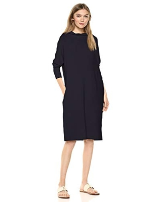 Amazon Brand Women's Supersoft Terry Oversized Fit Modern Funnel Neck Dress - daily ritual
