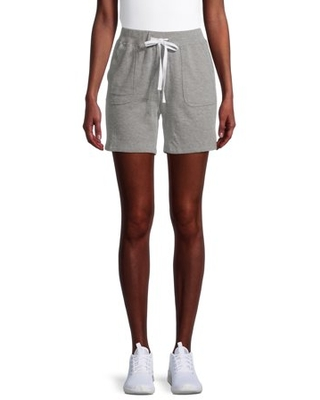 Women Active Drawstring French Terry Shorts - silverwear