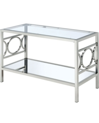 Beller Chrome Console Table - furniture of america