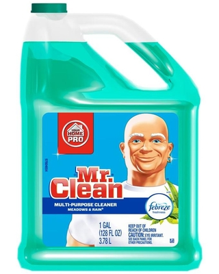 Multi surface with Febreze 128 fl oz Meadows and Rain Disinfectant Liquid All Purpose Cleaner 3700023124 - mr. clean